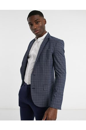 New Look Skinny check suit jacket in