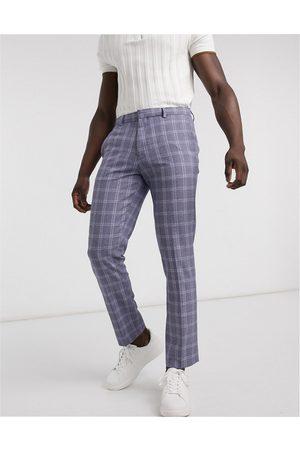 River Island Slim smart trousers in check