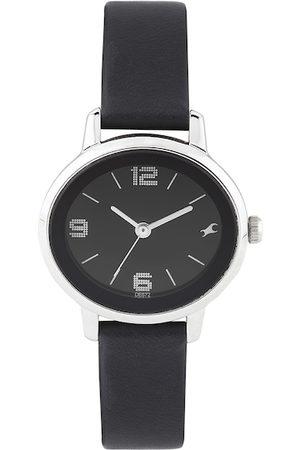 Fastrack Women Watches - Women Black Dial Watch 6107SL02