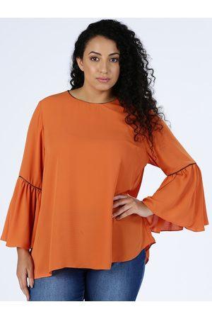 Splash Women Orange Solid Top