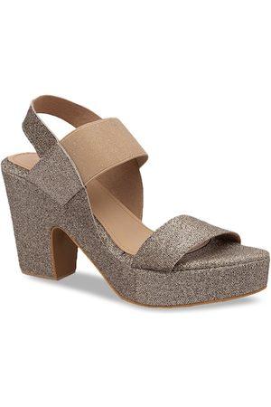 Rocia Women Gold-Toned Embellished Platform Heels