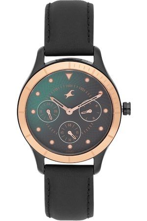 Fastrack Women Green & Black Analogue Watch 6163KL02_OR