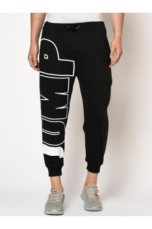 Rigo Men Black & White Printed Regular Fit Joggers