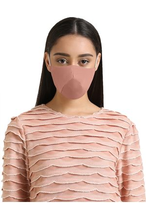 Kazo Women Beige Solid 2 Ply Reusable Face Mask