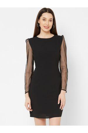 MISH Women Black Solid Sheath Dress