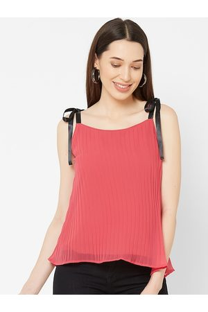 MISH Women Pink Solid A-Line Top