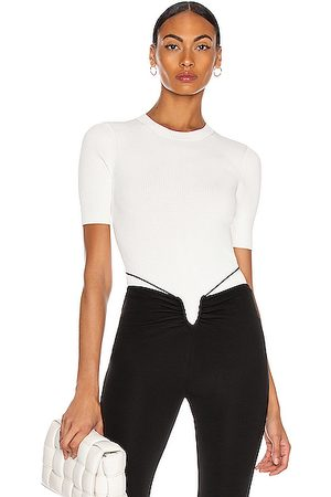 DION LEE Women T-shirts - Lustrate Rib Tee in Ivory