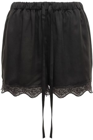 Underprotection Carry Satin & Lace Shorts