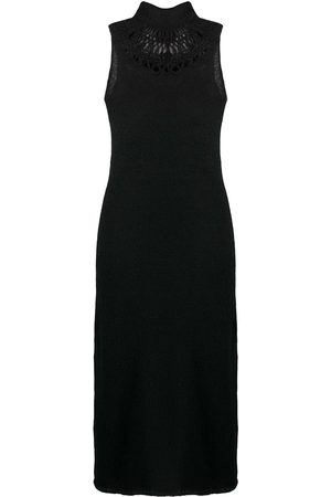 YOHJI YAMAMOTO Knitted dress with rear unravelling