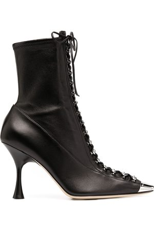 Sergio Rossi Women Lace-up Boots - Leather lace-up boots