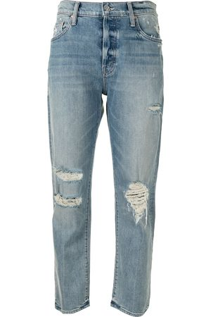 Mother Women Straight - High rise The Scrapper Ankle jeans