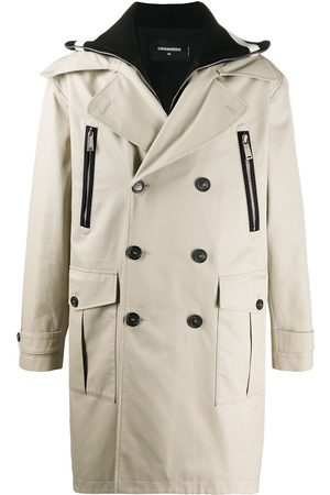 Dsquared2 Men Trench Coats - Double-breasted trench coat