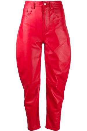 The Attico High-waisted tapered trousers