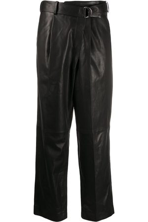 Helmut Lang Wrap-front cropped trousers