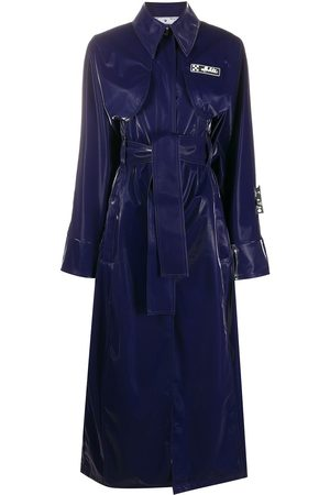 OFF-WHITE Long belted trench coat