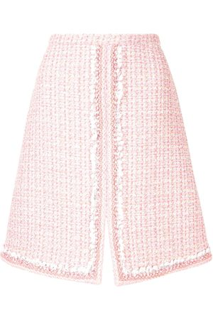 Giambattista Valli Split-hem tweed skirt
