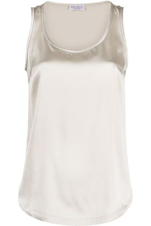 Brunello Cucinelli Satin tank top