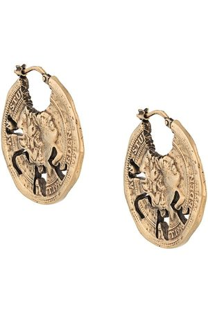 Acne Studios Vintage coin earrings