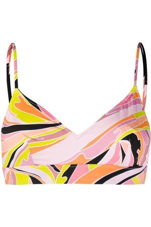 Emilio Pucci Vetrate print bikini top