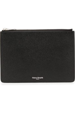 Maison Margiela Logo-embossed zip wallet