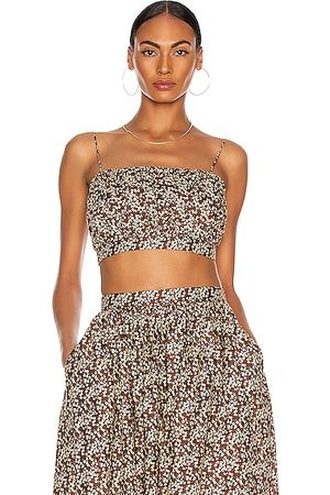 MATTEAU Ruched Camisole Top in Blossom