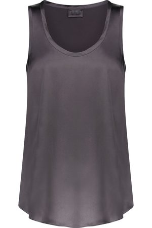 Brunello Cucinelli Stretch-silk satin tank top