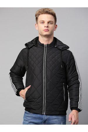 Fort Collins Men Black Solid Lightweight Detachable Hood Quilted Jacket
