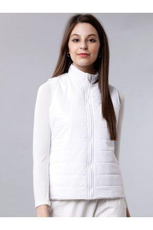 Tokyo Talkies Women White Solid Padded Jacket