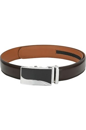 Pacific Men Brown Solid Leather Belt