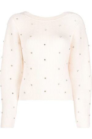 Self-Portrait Crystal-embellished jumper