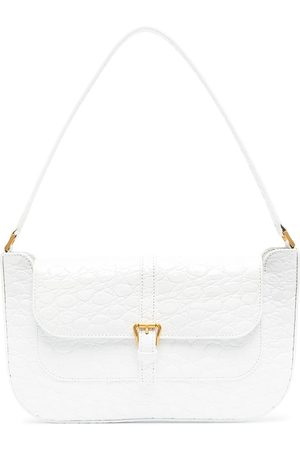 By Far Embossed-leather shoulder bag