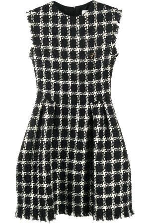VALENTINO Women Sleeveless Dresses - Tweed checkered sleeveless dress
