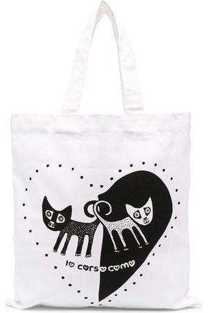 10 CORSO COMO Cat heart print tote bag