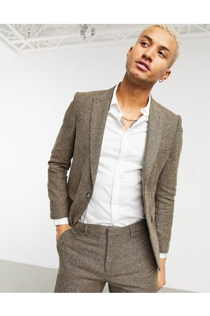 Shelby & Sons Slim suit jacket with chain in light twill