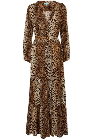 Melissa Odabash Sonja cheetah-print maxi dress
