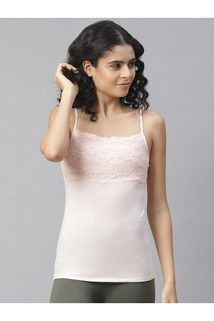Marks & Spencer Women Peach-Coloured Solid Camisole