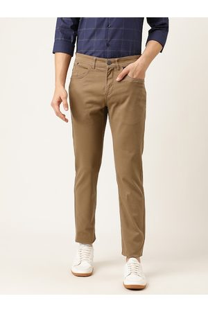 Flying Machine Men Brown Slim Fit Solid Chinos
