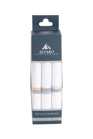 Alvaro Castagnino Men White Handkerchief