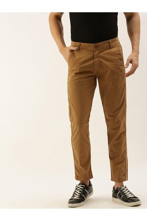 Moda Rapido Men Mustard Regular Fit Solid Chinos