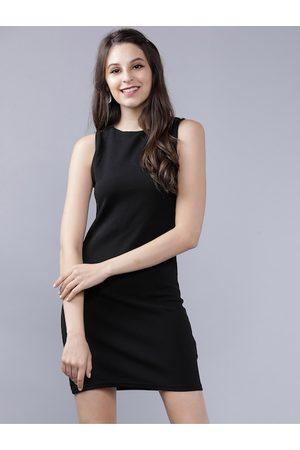 Tokyo Talkies Women Black Solid Sheath Dress