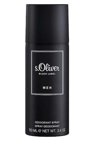 s.Oliver Men Black Label Aerosol Deodorant 150 ml