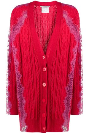 Stella McCartney Floral lace cable knit cardigan