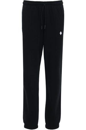 MARCELO BURLON Cross Embroidery Jersey Sweatpants