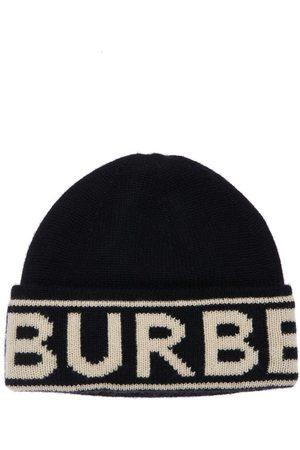 Burberry Logo Intarsia Cashmere Knit Beanie
