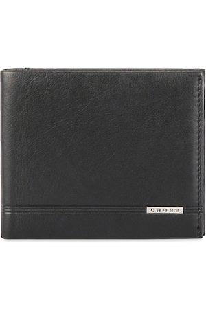 Cross Men Black Solid Genuine Leather Two Fold Wallet