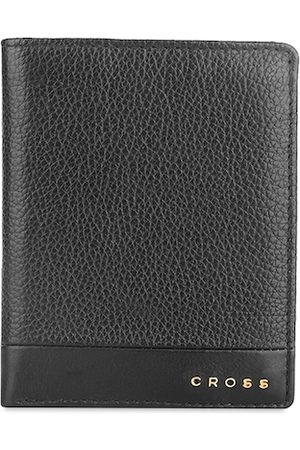 Cross Men Black Textured Genuine Leather Two Fold Wallet