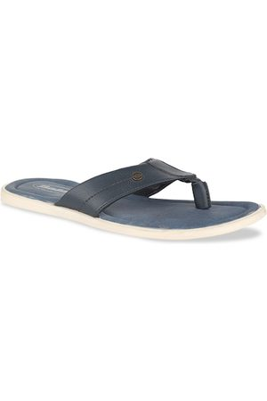Bata Men Blue Solid Slip-On Flip-Flops