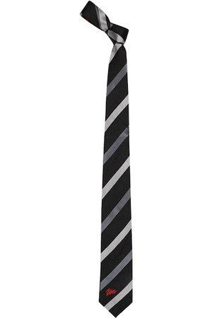 Tossido Men Black & Grey Striped Broad Tie
