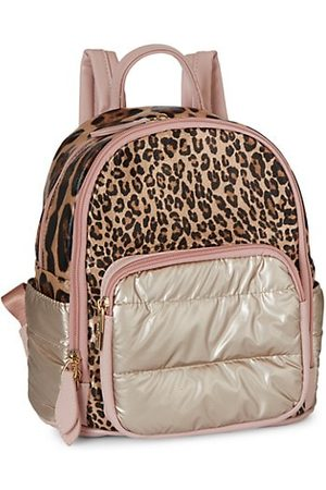 Bari Lynn Metallic & Leopard Mini Backpack
