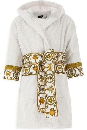 VERSACE Boys Bathrobes - Little Kid's & Kid's Decorative Trim Cotton Robe